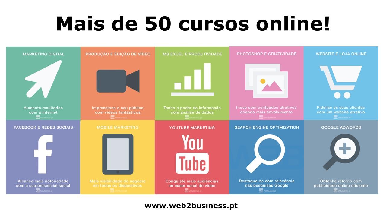 mais de 50 cursos online w2b